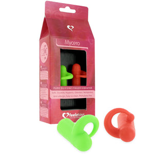 Mycero Silicone Finger Vibrator - Green&Red