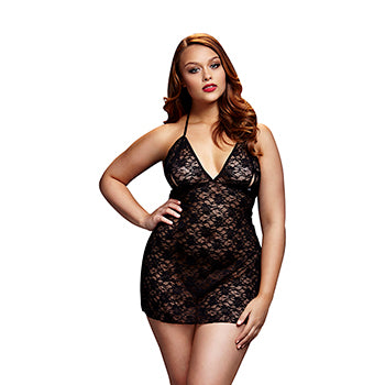 Lace Babydoll (Queen Size only) - Black