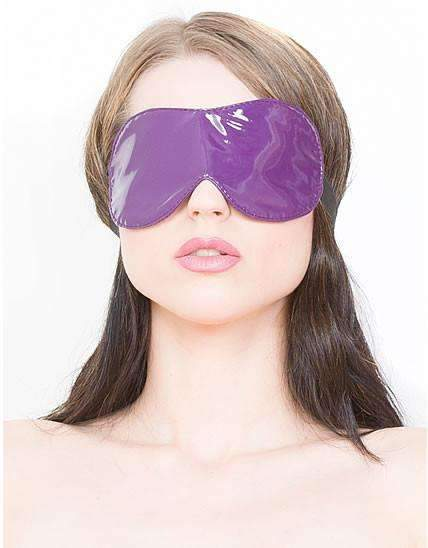 Purple PVC Blindfold