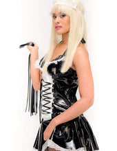 PVC French Maid Fantasy Dress and Cap