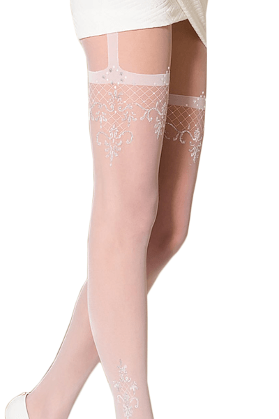 TI108 Gold Collection Tights Sparkly Thread White