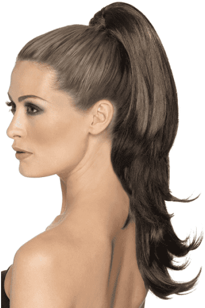 Divinty Clip In Hair Extension - Brown Wavy Ponytail