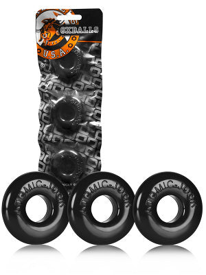 Do-Nut Cock Rings - 3 pack - Black