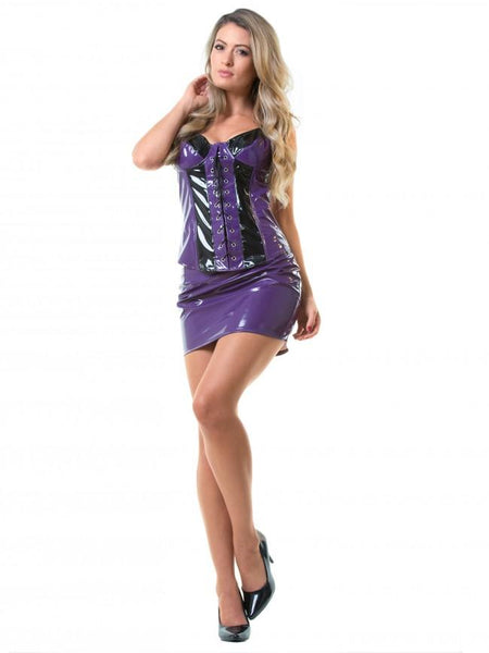 PVC Diva Mini Skirt - Purple