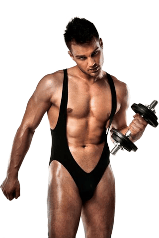 Passion Lingerie Men's Jockstrap Bodysuit Black 011