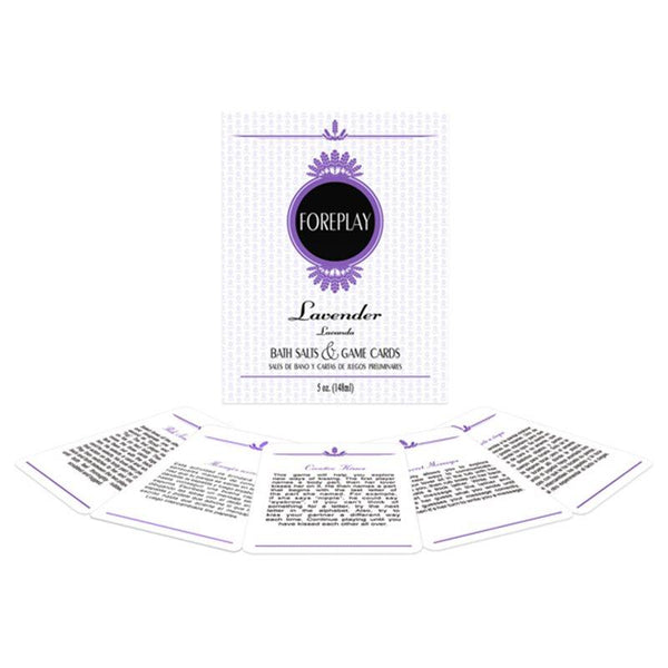 Foreplay Set - Lavender Bath Salts & Waterproof Activity Cards Sex Toys