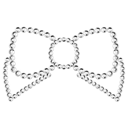 Mimi Nipple Cover Bow - Silver