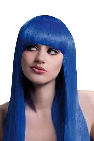 Wig- Alexia Long Blunt Cut - Blue