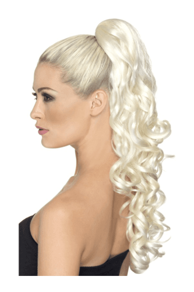 Clip-in Hair Extension - Blonde Curls Ponytail