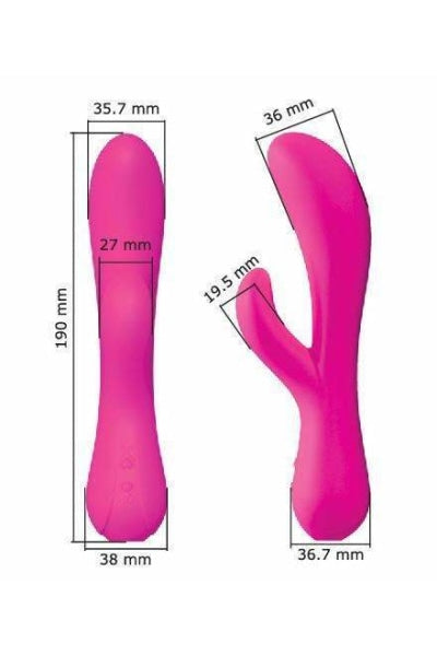 Rabbit Vibrator Vanessa 2 Motors - Rose