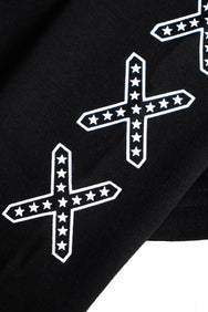 CONFEDERATE CROSS LONG SLEEVES CROP TOP (クロスロングスリーブ クロップトップ)