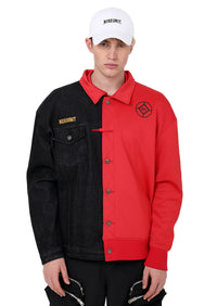 STITCHED DUAL JACKET | RED