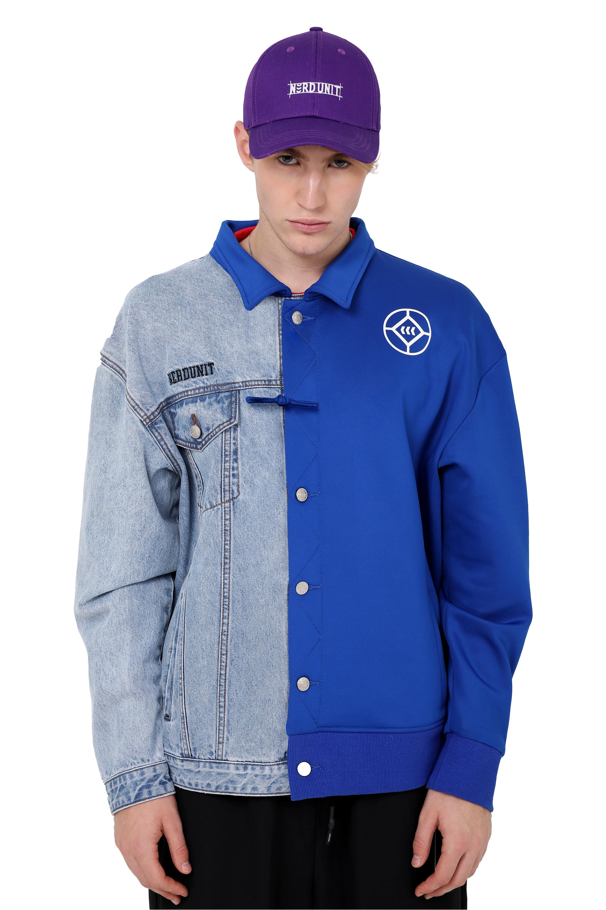 STITCHED DUAL JACKET | BLUE