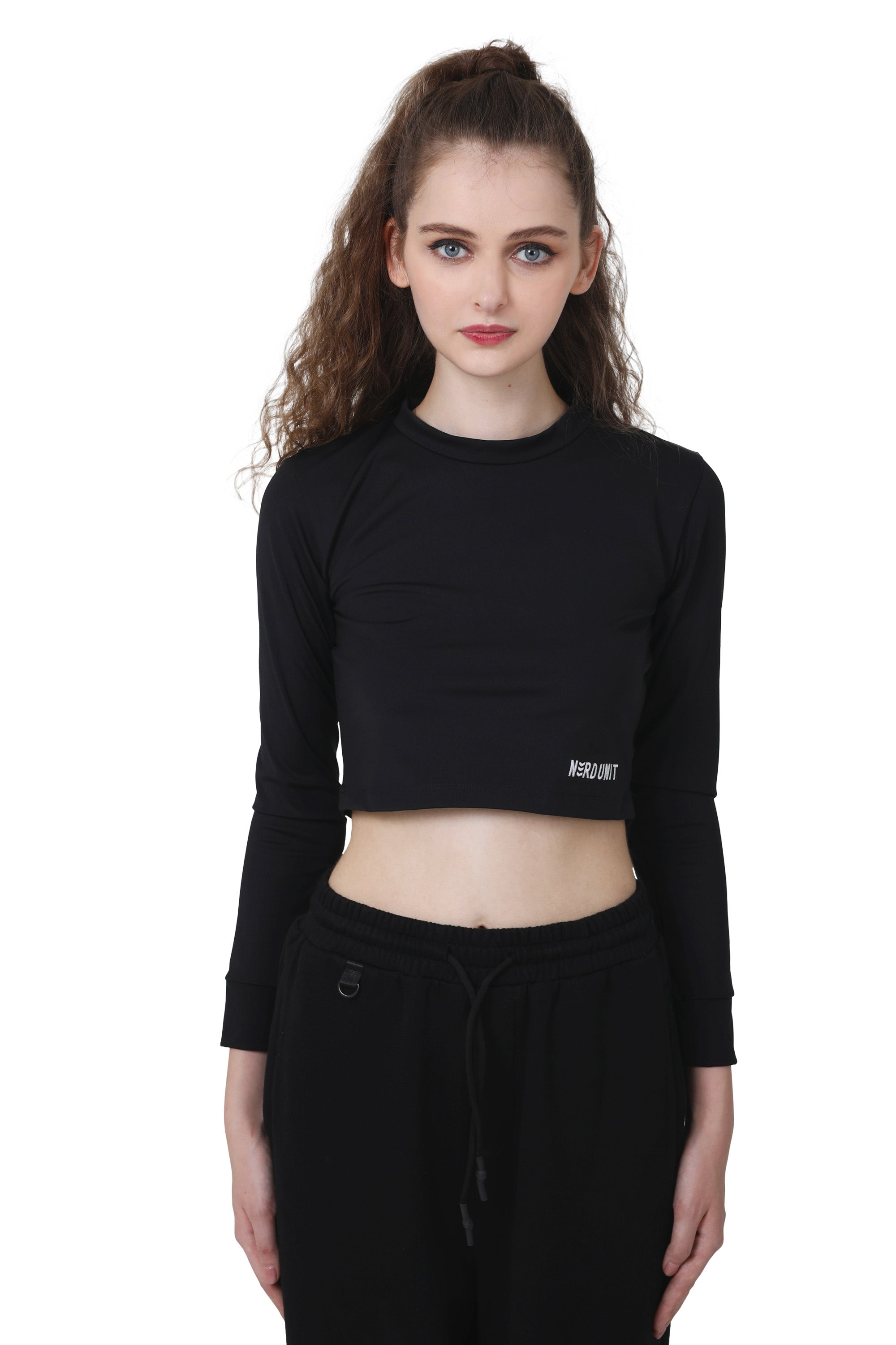 PROTOTYPE CROP L/S | BLACK