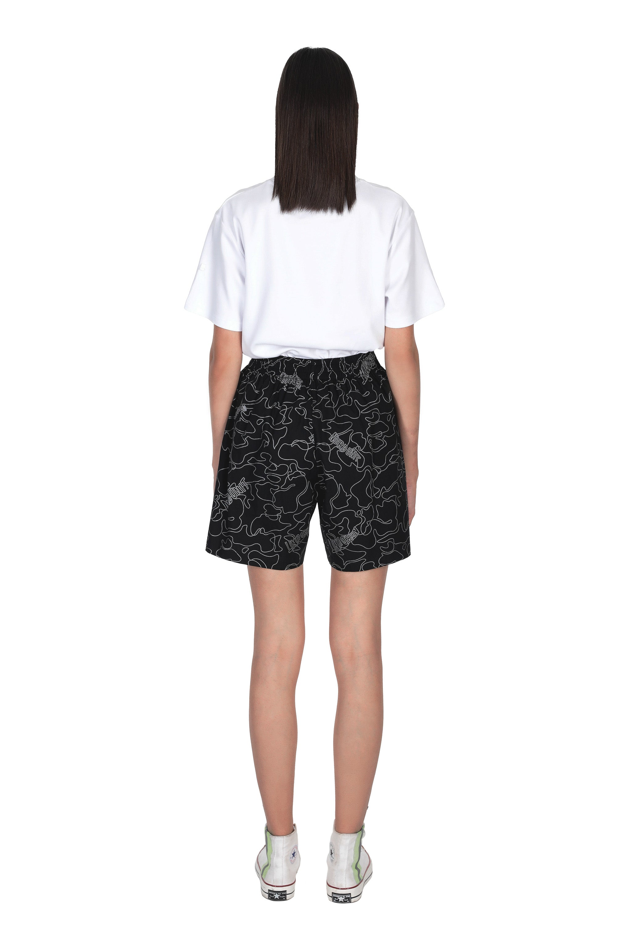 REFLECTIVE CAMO SHORTS | BLACK