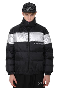 WILD REFLECTIVE PUFF JACKET | BLACK