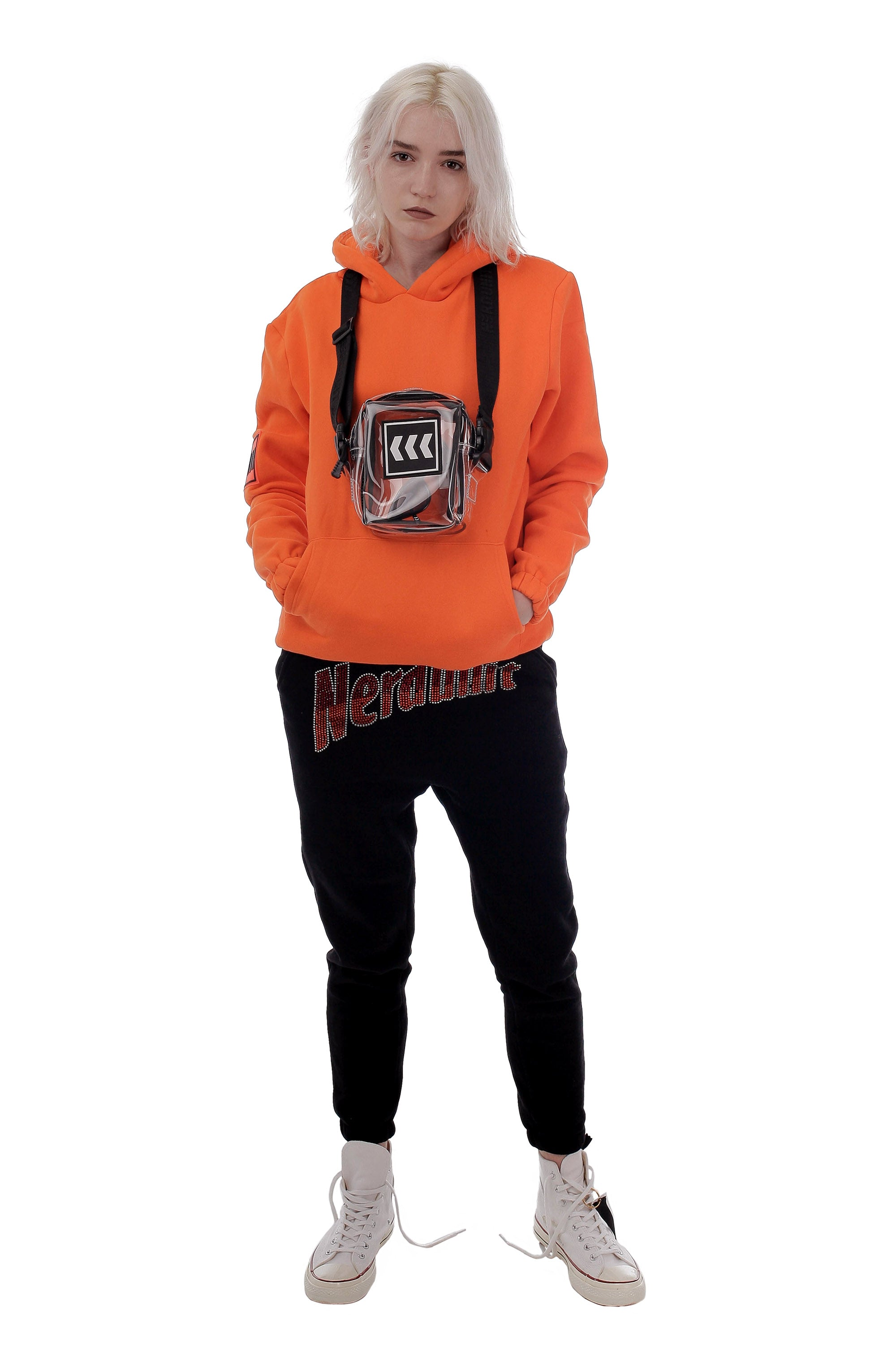 RS WE ARE NU HOODIE | ORANGE (RS WE ARE NERDUNIT HOODIE - オレンジ)
