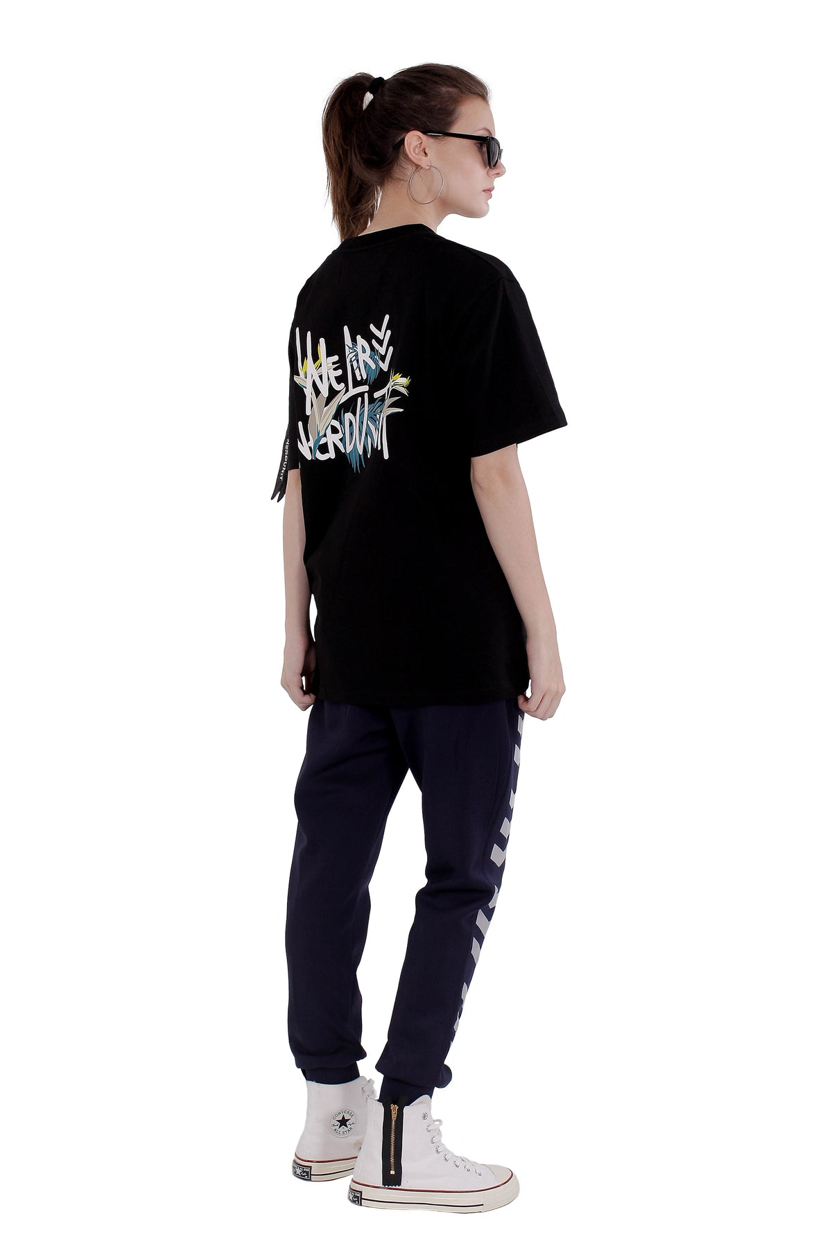 WE ARE NU FLORAL TEE | BLACK ( We Are NU フローラル Tシャツ | ブラック )