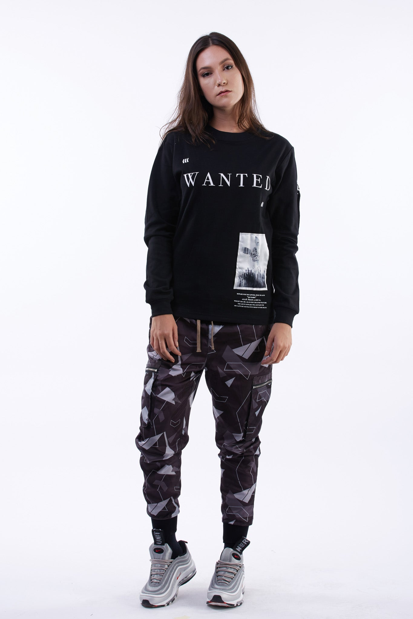 WANTED LONG SLEEVES TEE ( ウォンテッド ロングスリーブ Tシャツ )