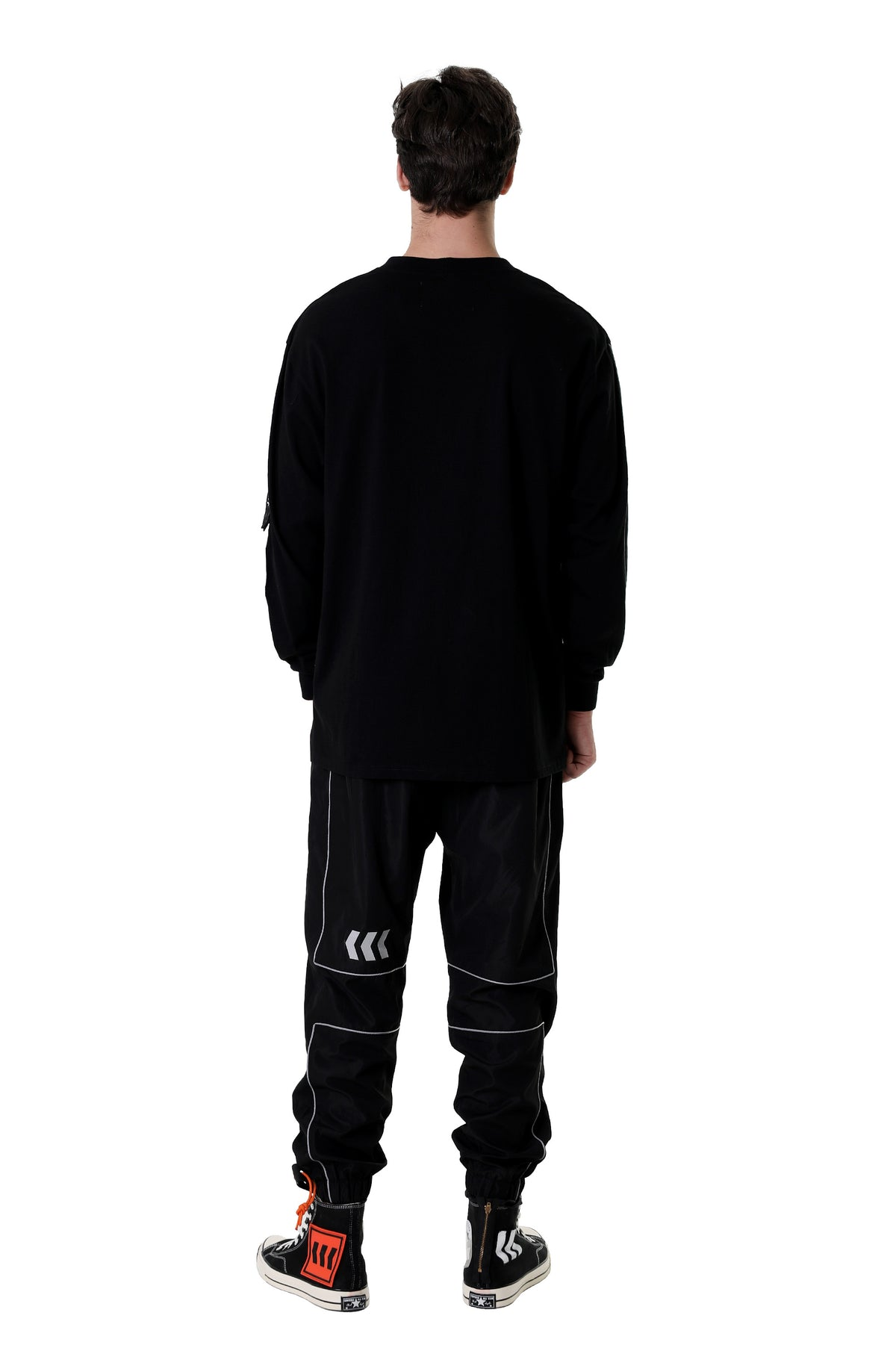 REFLECTIVE LINING LONG SLEEVES TEE | BLACK