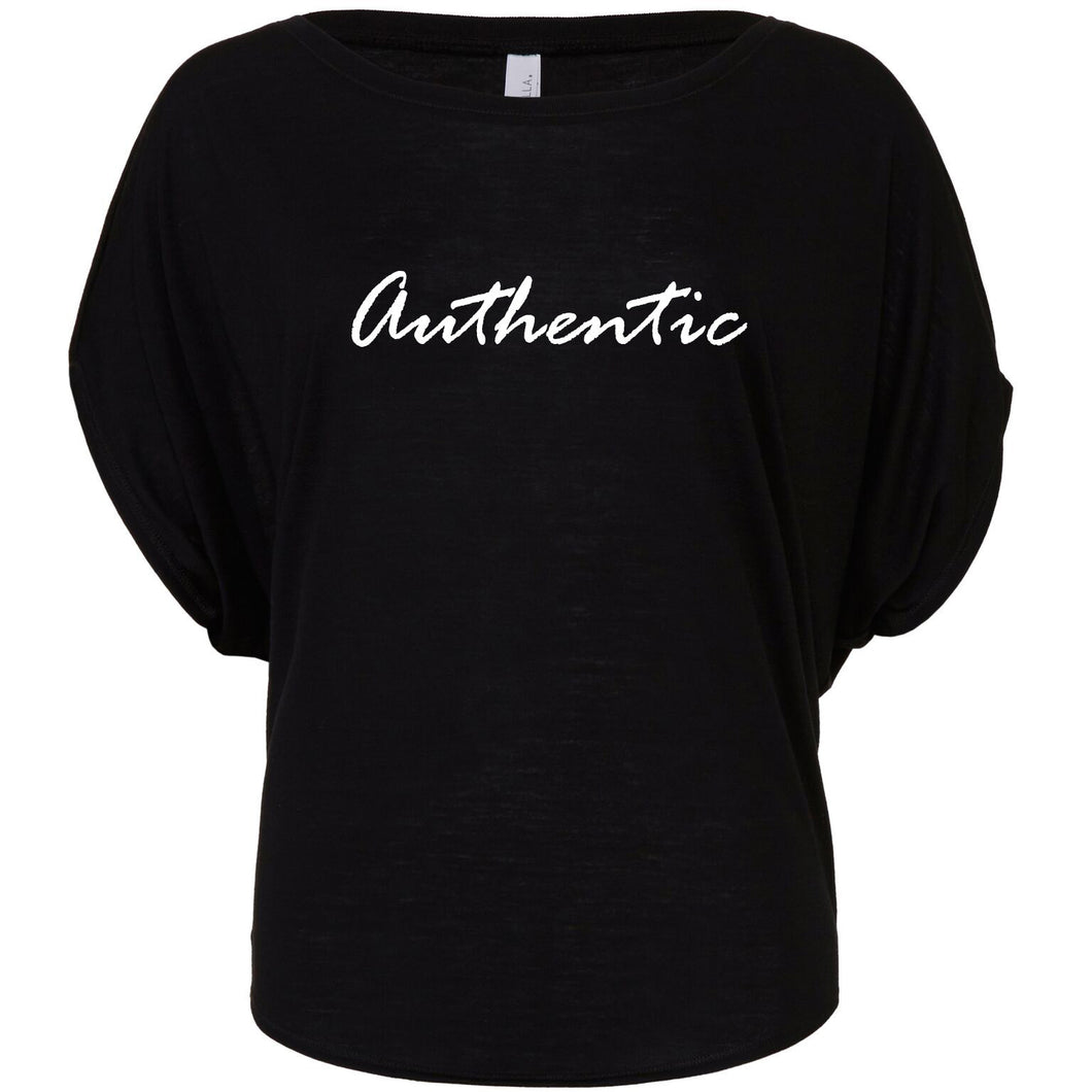 Women's 'Authentic' Flowy Draped Tee