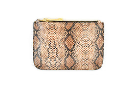 Leather Snake Print Coin Purse