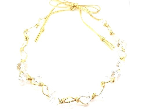 CLEAR BEAD INTERWOVEN NECKLACE