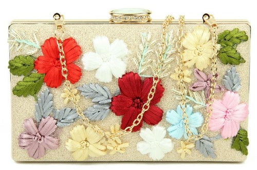 3D FLOWER BOX CLUTCH