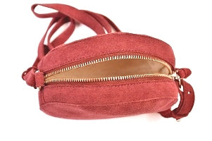 Round Small Suede Cross Body