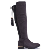 Knee High Stretch Boot With Back Tie