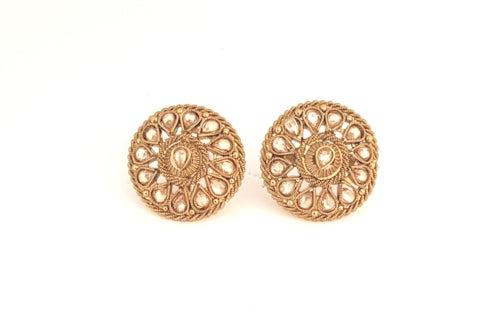 ANTIQUE GOLD DIA STUD