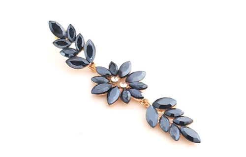 FLOWER TRIM DIA EARRINGS