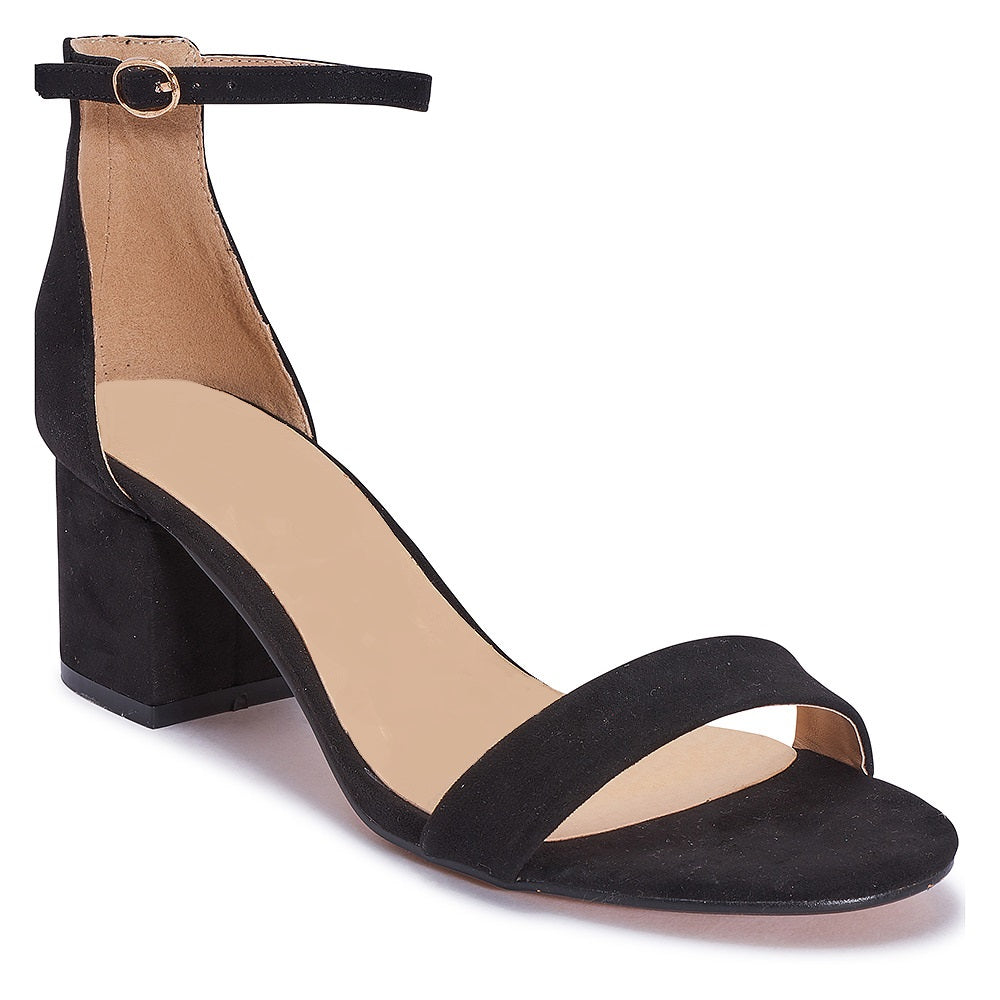 LOW BLOCK HEEL SANDAL