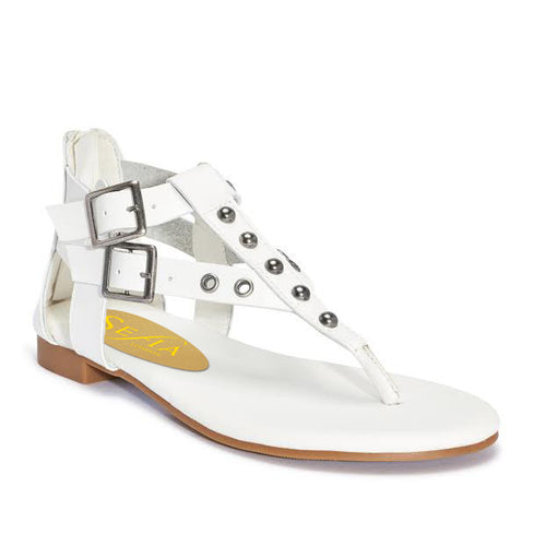 Studded T-Bar Flat Sandal
