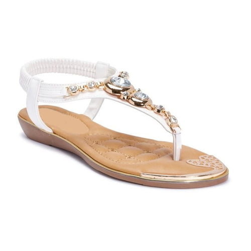 EMBELLISHED T BAR SANDAL