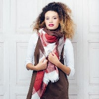LARGE WOVEN SOFT SCARF