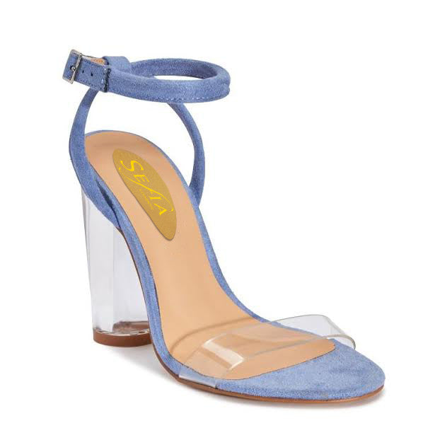 Perspex Ankle Strap Sandal