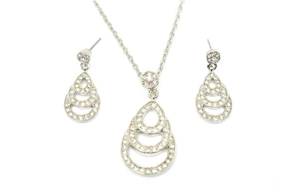 Triple Pear Drop Dia Drop Set