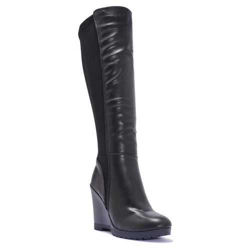 WEDGE PLATFORM KNEE BOOT