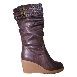 Slouch Wedge Boot