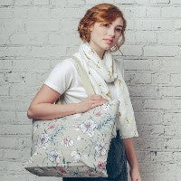 CANVAS FLORAL PRINT BAG
