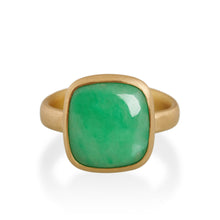 Square Jade Ring, 22ct Gold