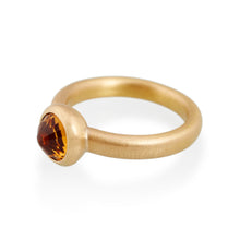 Faceted Citrine Ring, 22ct Gold