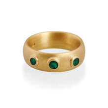 Three Emerald Ring, 22ct Gold