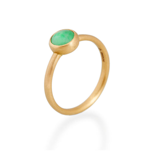 Round Jade Ring, 22ct gold