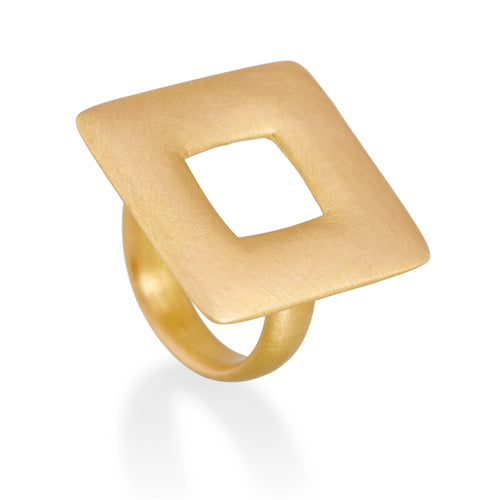 Large Square Ring, 22ct Gold