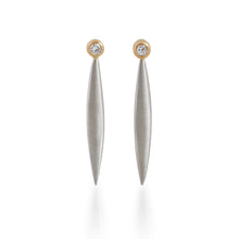 Old Round Cut Diamond Shard Earrings, Platinum & 22ct Gold