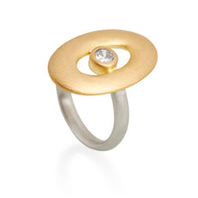 Gold Oval Diamond Ring, Platinum & 22ct Gold
