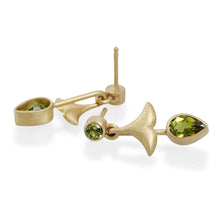 Peridot Earrings, 18ct Gold