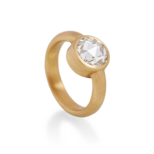 Rose Cut Diamond Ring, 22ct Gold